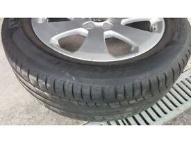 Michelin 225/55/R17 tyre and alloy - £60 ONO