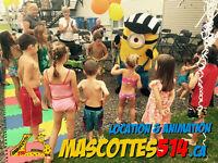MASCOTTE MASCOT Animation fête enfant + Location Rent MINION et+