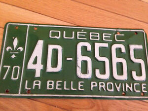 License plate 1970 West Island Greater Montréal image 1