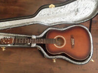 Acoustic guitar with guitar case