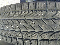 Set of 4 winter tires BF for P/U truck one season only! Like new