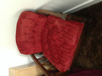 FREE Two Solid Wood Red Chairs