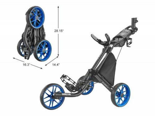 CaddyTek EZ-Fold Golf Push Cart, Version 8 - CaddyLite EZ V8 BLUE