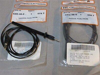 2 Pomona Electronics Itt 4410-48-0 Banana Plug Probe Test Leads