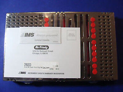 Dental Cassette 20 Instruments Color Red Box Surgical Im9200 Hu Friedy