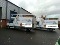 BORIS REMOVALS NOTTINGHAM MAN WITH A VAN INTERNATIONAL MOVES LARGE LUTON VAN DELIVERIES PICK UP