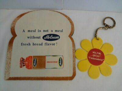 Vintage Holsum Bread Advertising Sewing Needle Book & Key Chain