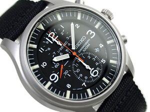 Seiko Military Sport Chronograph Watch SNDA57P1 Warranty, Box