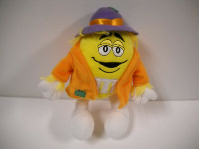 M&M Halloween Poseable Yellow Scarecrow Costume Plush Collectible Galerie 2004 - Halloween M&m Costume