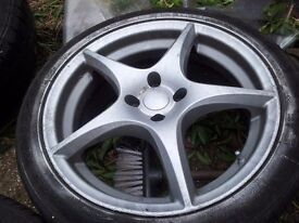 """Alloys for sale need tyres and a referb 17"""" no cracks not got time to refurb them"""