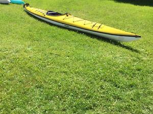 """17' 6"""" fibreglass kayak"""