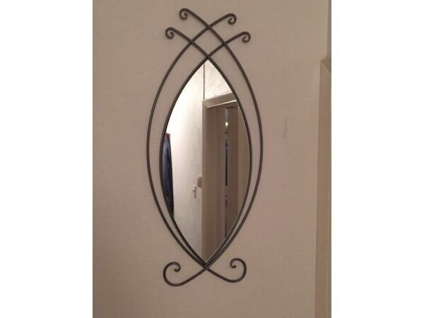Lovely Large Unusual Wall Mirror Iron Metal Frame Bromley