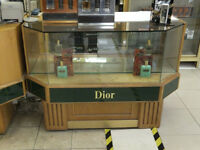 Pair of 1980's Retro High End Department Store Shop Counters
