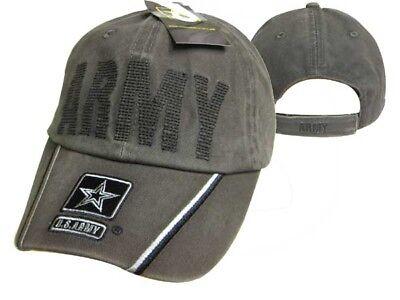 Us Army Starker Olive Gesteppt Buchstaben Bestickt Kappe Lizensiert CAP595CMG ()