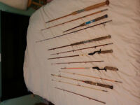 6 old fly rods