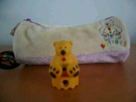 Brand new pencil case and teddy sharpener