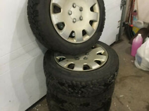 WINTER TIRES mounted and balanced with hub cap 205/55/16 5x114.3