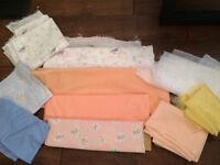 Joblot / Job Lot of floral and plain fabrics
