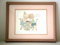Precious Moments - Prayer Changes Things - Framed Needlepoint
