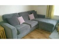 DFS corner sofa less than 2 years old - excellent condition