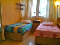 1 BEDSIT AVAILABLE IN A TWIN ROOM/CLAPHAM JUCNTION AREA/SPLIT LEVEL FLAT/LIVING ROOM/AVAILABLE NOW