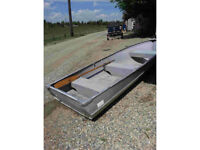 12 foot aluminum fishing or row boat up to 10 hp outboard