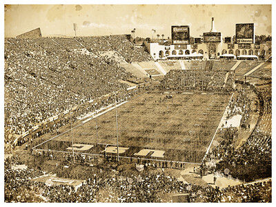 USC Trojans Poster Print Sketch Wall Art Man Cave Decor - Usc Decorations
