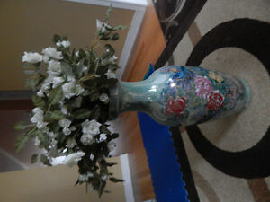 Tall vase with flowers moving sale