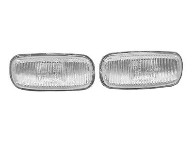 (DEPO Euro Clear Fender Side Marker Lights Pair For 1999-2001 Audi A4 B5.5)