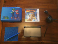 Nintendo 3DS with charger, case and game