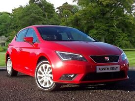 SEAT LEON 1.6 TDI SE 5dr [Technology Pack] (red) 2014