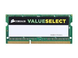 CORSAIR 8GB VALUESELECT DDR3 1333MHz SODIMM Memory - CMSO8GX3M1A1333C9