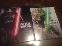 Star Wars Blu Ray and DVDs (1-3, 4-6)