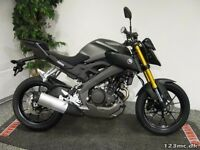 Yamaha mt125 abs . 3 months old only 200 miles, show room condition, manufacturers warranty