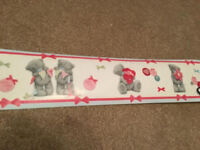 Tatty Teddy Self Adhesive Wall Border 15cm x 5m length - Brand New