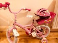 Kids cupcake pink bike bicycle for 3-6yrs with Helmet