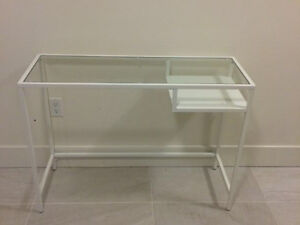 Brand new white console table