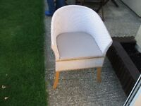Wicker chair commode, excellent condition