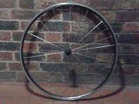 700c front wheel quick-release road bike fast race lightweight Alex DA22 radial spoke good condition