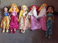 Disney Store Soft Disney Princesses x 6