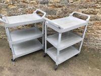 portable tray trolleys