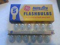 Vintage unused flash bulb collection