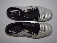 Nike Total 90 III SG Scarpini Calcio Argento Pelle 308230 - Size UK 11 EU 46 US 12 - Football Soccer