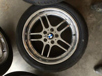 Chrome 18 in. wheels with Michelin Pilot Sport tires