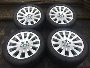 "set of genuine BMW BBS 18"" dunlop run flat winter package"
