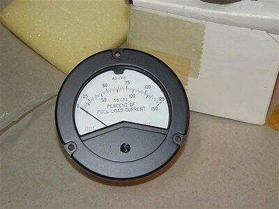 Weston 2534 50 Cps Percent Of Full Load Current Panel Meter Part 2534-2101004