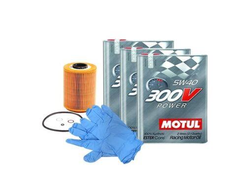 BMW 328i N20 & N26 Motul 300V Racing 5W40 Power Engine Oil Change Kit