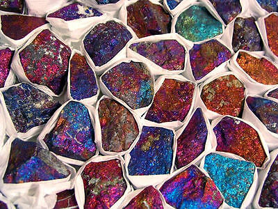 Peacock ore mine rough chalcopyrite blues/reds Mexico 1/2 pound lot 5-10 pieces