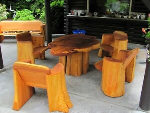 cedar tree benches made locally