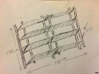 retail or garage IKEA storage rack flexible DIY in 10 minutes and heavy duty